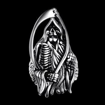 Alloy Engraved Devil Skeleton Shape Ring