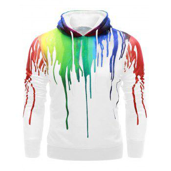 Paint Dripping Drawstring Hoodie