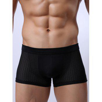 Perforated Wide Waistband Stretch Boxer Briefs