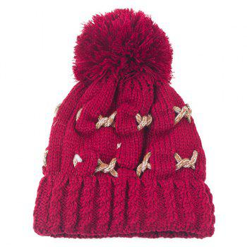 Knit Cable Braided Pom Hat