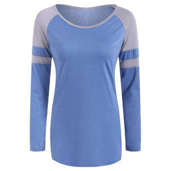 Raglan Sleeve Color Block Design T-Shirt
