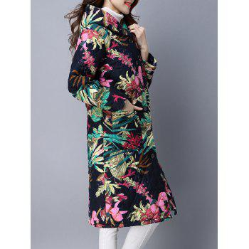 Hooded Single Breasted Padded Coat - COLORMIX 2XL