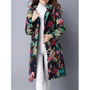 Hooded Single Breasted Padded Coat