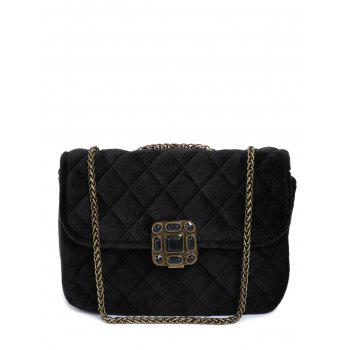 Vintage Chains Velour Quilted Bag