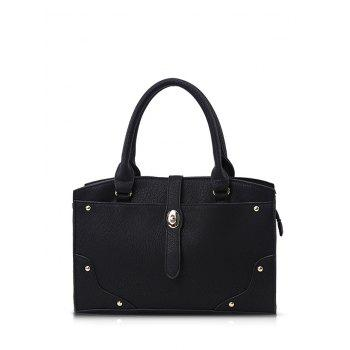 Metal Rivet PU Leather Handbag