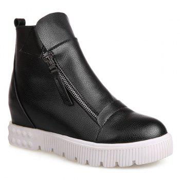Zip Increased Internal Ankle Boots
