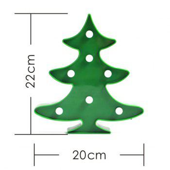 Christmas Tree Shape LED Night Light Wall Home Decor - GREEN