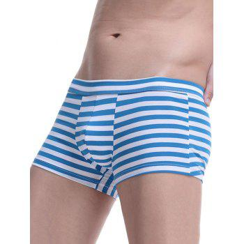 Breathable U Convex Pouch Striped Boxer Briefs