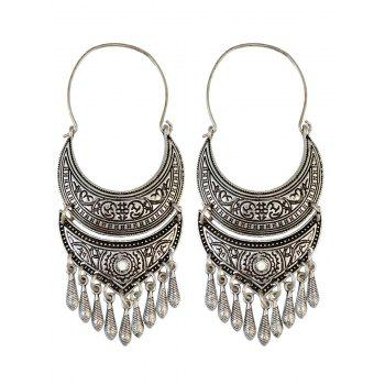 Vintage Crescent Tear Drop Earrings