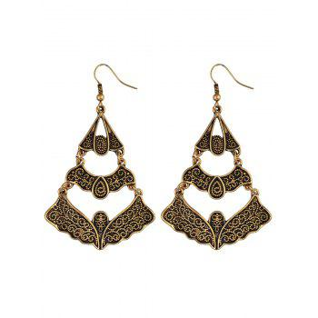 Ethnic Hollow Out Butterfly Earrings