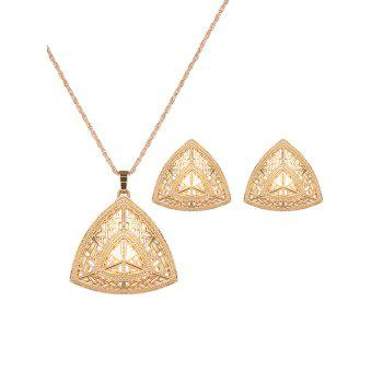 Vintage Hollow Out Triangle Jewelry Set
