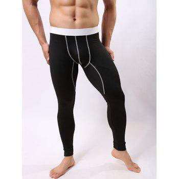 Color Block Spliced U Convex Pouch Warmth Underwear Pants
