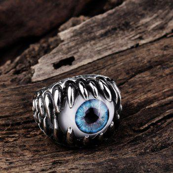 Alloy Tooth Eye Rock Ring - SILVER 9