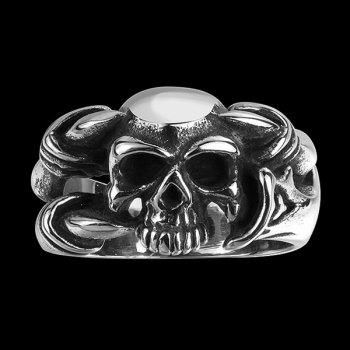 Devil Skull Alloy Biker Ring