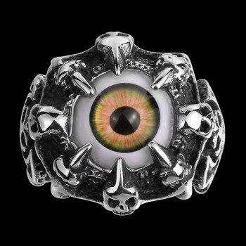 Eye Skull Claw Alloy Ring
