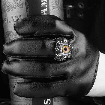 Eye Skull Claw Alloy Ring - SILVER SILVER