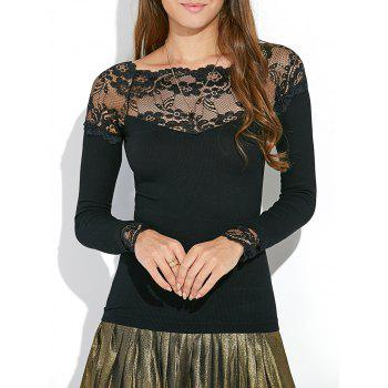 Lace Insert Bodycon Tee