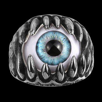 Alloy Tooth Eye Rock Ring - SILVER SILVER