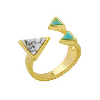 Artificial Turquoise Triangle Cuff Ring