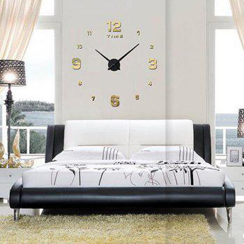 Buy DIY 3D Home Decoration Mirror Clocks Wall Stickers GOLDEN