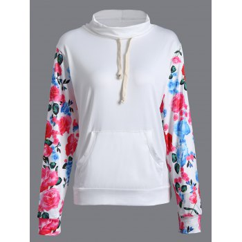 Floral String Loose Sweatshirt