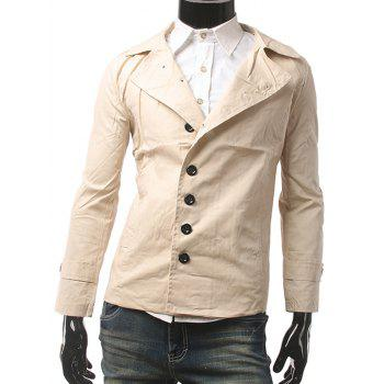 Slim Fit Lapel Collar Button Up Jacket