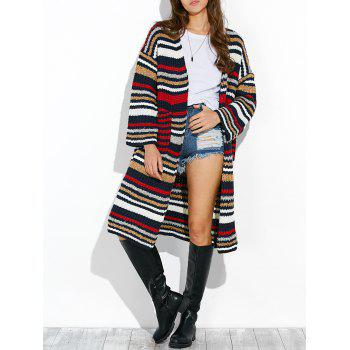 Colorful Striped Chunky Cardigan