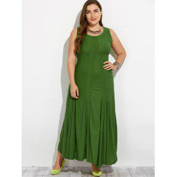 Plus Size manches Maxi Dress - Vert L