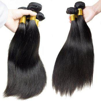 1 Pcs 7A Virgin Straight Brazilian Hair Weave - BLACK 20INCH