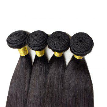 1 Pcs 7A Virgin Straight Brazilian Hair Weave - Noir 16INCH