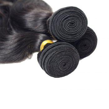 1 Pcs 7A Virgin Body Wave Brazilian Hair Weave - BLACK 8INCH