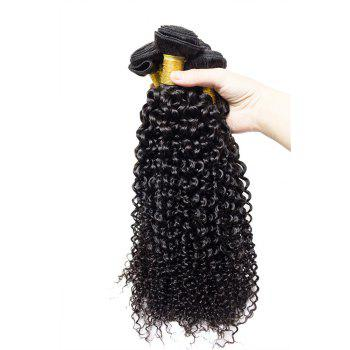 1 Pcs 7A Virgin Kinky Curly Brazilian Hair Weave - BLACK BLACK