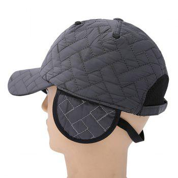 Adjustable Warm Rhombus Ear Warmer Baseball Cap