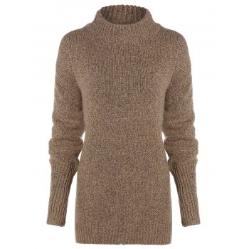 Long Sleeve Mock Neck Pullover Sweater