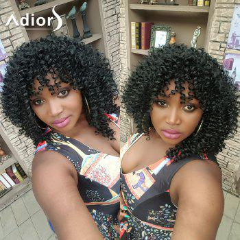 Adiors Hair Medium Side Bang Afro Curly Synthetic Wig