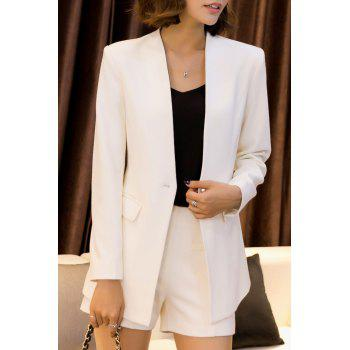 Work Blazer With Mini Shorts