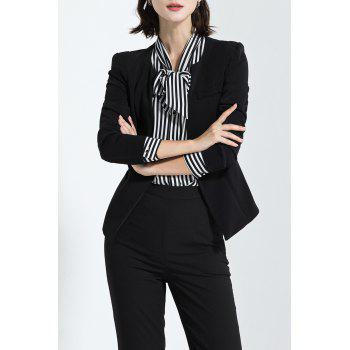 Collarless Business Slim Fit Blazer