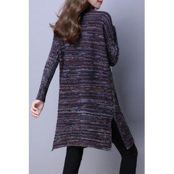 Mock Neck Color Block Sweater Dress - COLORMIX COLORMIX
