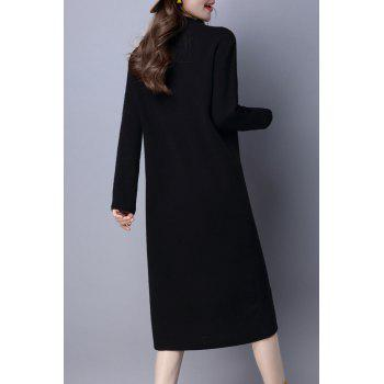 Mock Neck Sweater Dress Maj - Noir L