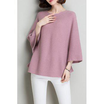 Flare Sleeve Wool Knit Sweater