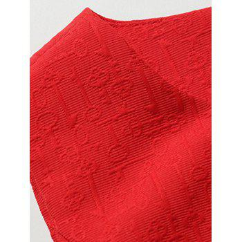 Manches Jacquard Robe patineuse - Rouge XL