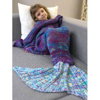 Comfortable Knitted Sofa Kids Mermaid Tail Blanket