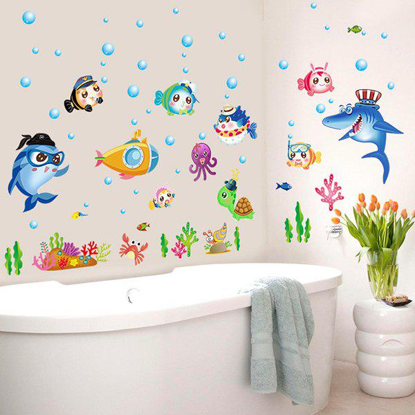 2018 Sea World Removable Baby Room Decor Wall Stickers COLORFUL In Wall Stickers Online Store