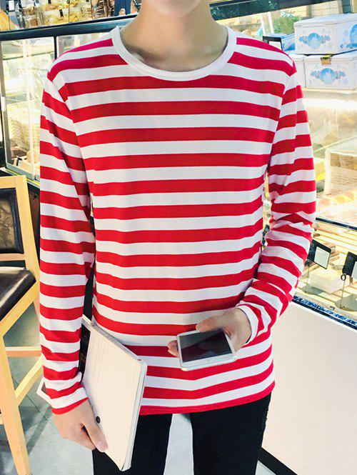 Long Sleeves Round Neck Striped T-Shirt рюкзак child backpack 1 3 pu