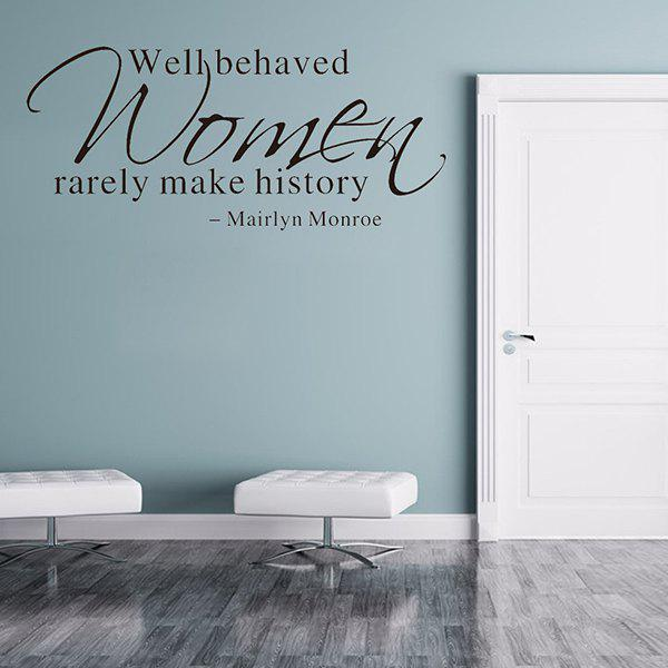 Mairlyn Monroe Proverb Removable Room Decor Wall StickersHome<br><br><br>Color: BLACK