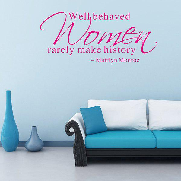 Mairlyn Monroe Proverb Removable Room Decor Wall Stickers removable famous proverb design room office wall stickers