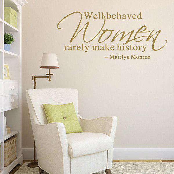 Mairlyn Monroe Proverb Removable Room Decor Wall Stickers