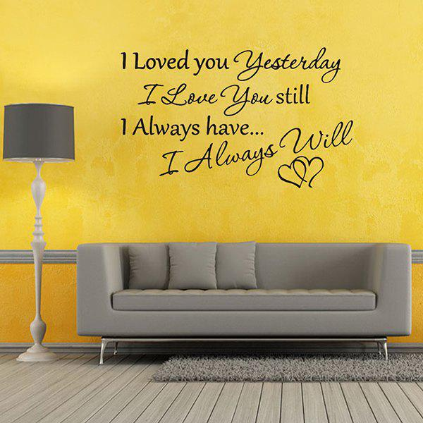 Love You Theme Proverb Removable Room Decor Wall StickersHome<br><br><br>Color: BLACK