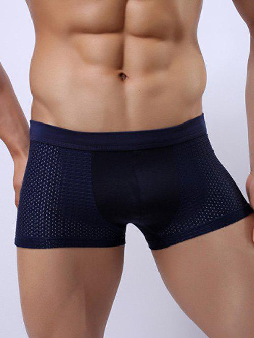 Perforated Wide Waistband Stretch Boxer Briefs red sexy stretch waistband tracksuit