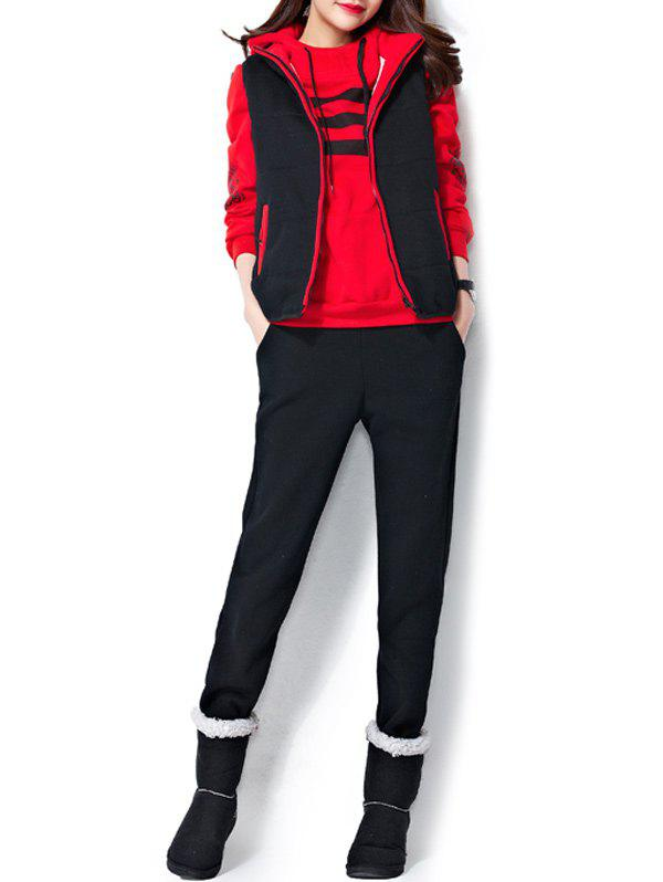 Varsity rayé Imprimé Three Piece Suit Gym - Rouge XL